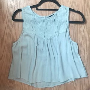 Baby blue forever 21 tank top
